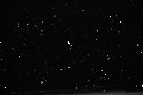 初雪、ベランダから