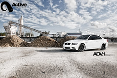 ADV1 Active Autowerke BMW M3 (ADV1WHEELS) Tags: white sexy speed site construction nikon florida miami bees alien fast bmw m3 active supercharged slammed bimmer adv1 autowerke d300s