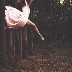 passerby (Rebecca Nathan) Tags: forest fly jump enter passerby pinkdress rebeccanathan inpresoniante