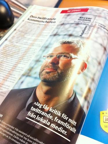 Den twittrande kommunchefen Mattias Jansson (ur Internetworld nr 2, 2011)