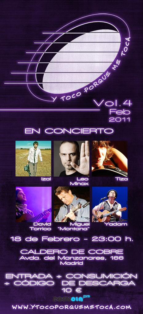 """Flyer Vol.4 febrero 2011 """"Y toco porque me toca"""""""