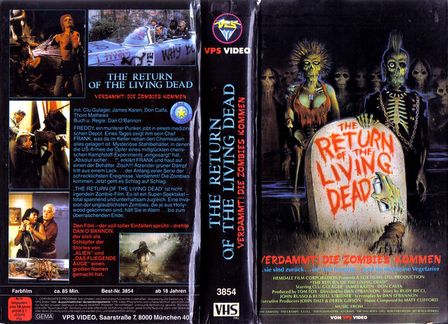 Return Of The Living Dead (VHS Box Art)