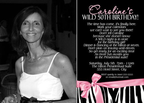 Images Of 50th Birthday Invitations. Wild Zebra 50th Birthday