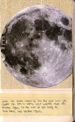 page twenty one (tara rose toes) Tags: moon moleskine handwriting notebook newspaper lyrics scanner scan lanterns eveninghymns lyricbooklet