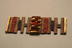 Cuff Bracelet with Cat Amulets (BrassIvyDesigns) Tags: archaeology glass animal cat gold goddess lion egypt jewelry egyptian artifact metropolitanmuseum metropolitanmuseumofart domesticated antiquity bastet carnelian sakmet