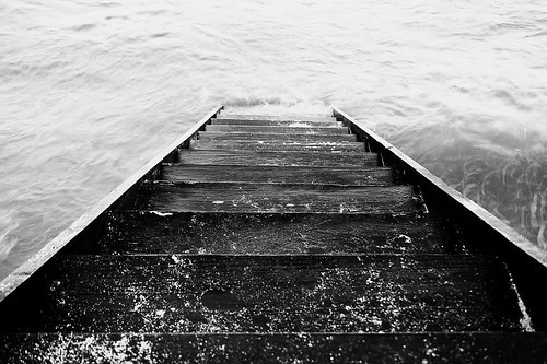 Stairway to water...