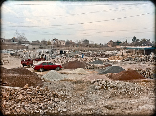 Gravel/Masonry Yard Across from Taj