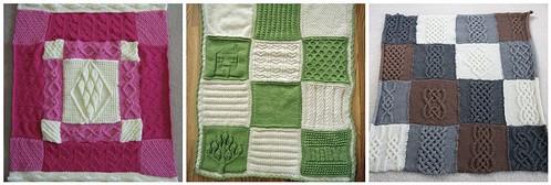 kırkyama örgü bebek battaniyeleri