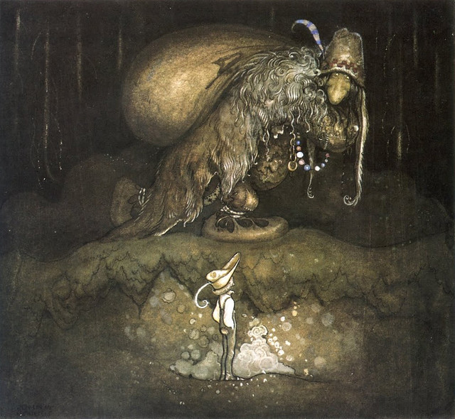 John Bauer - Good evening, old man! the boy greeted, 1915
