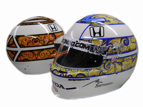 IZOD IndyCar Series Driver, Mike Conway's helmet
