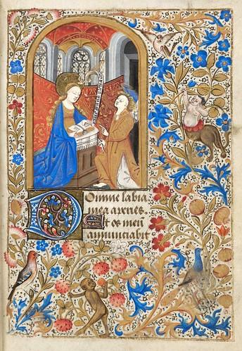 014- Ms. lat. 33- ©Genève, Bibliothèque de Genève- livre d'Heures à l'usage de Paris-f 21r