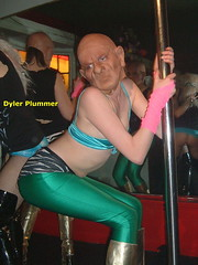 I was junior pole dancing champion back in 56.. (Dyler Plummer) Tags: dad with mask ten minutes poledancer gobsausage dylerplummer gimpgirlgirls