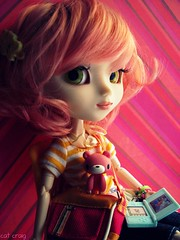 Ichigo (miss_skittlekitty) Tags: pink girls orange cute doll gamer gloomybear pullip mymelody junplanning dollds grooveinc