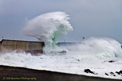 Peterhead Bay February (w11buc) Tags: winter sea storm scotland waves aberdeenshire gale breakwater peterhead 5photosaday greatscot
