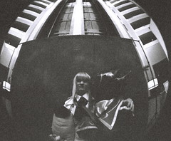 Anime cosplay on film: Taiyoucon 2011 (kevin dooley) Tags: blackandwhite bw favorite anime film analog 35mm wow lens photography iso3200 photo costume interesting fantastic lomo lomography flickr angle image very cosplay good awesome grain wide picture free award superior pi