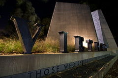 Anzac Parade (photo obsessed) Tags: nightphotography memorial war australia vietnam canberra act oceania australiancapitalterritory anzacparade