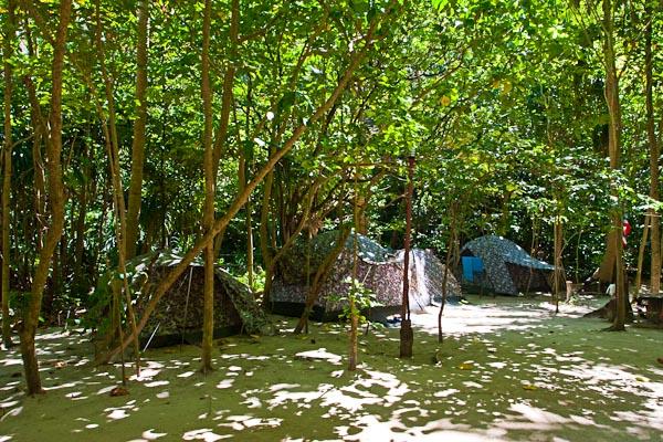 Camping Site at Maya Island