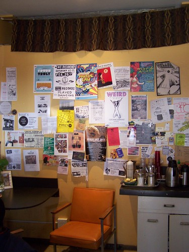 Bulletin board, Lamplighter Coffee Roasters, Richmond