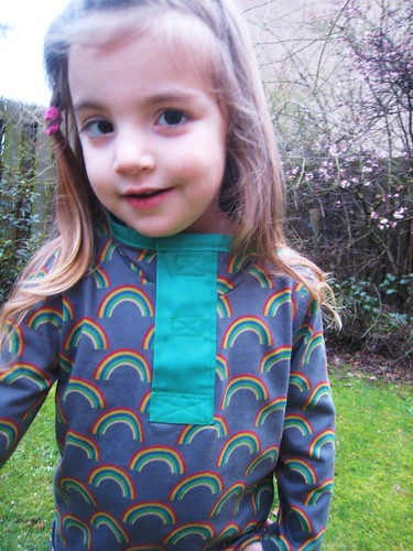 rainbow shirt placket
