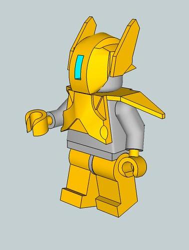 Custom minifig Airborne Armor