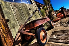 Radio Flyer (Ken Yuel) Tags: california wheels radioflyer littleredwagon yuccavalley pioneertown digitalagent kenyuel radioflyerwagons