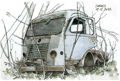 81 Cordes (gerard michel) Tags: car truck aquarelle camion croquis watercolourfranc