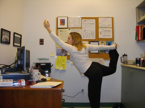 Dancer's Pose in my office