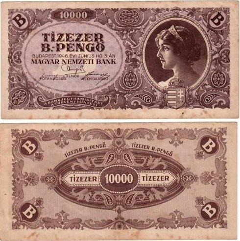 10 000 B.-Pengő Maďarsko 1946, P132