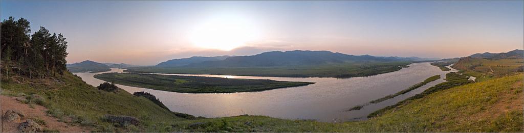 Selenga river. Buruatia