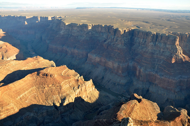 Grand Canyon DEIS Aerial Colorado River North of Confluence by Grand Canyon NPS