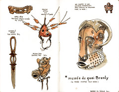 carnet-quaibranly (Titwane) Tags: sketch sketchbook muse afrique masques croquis carnet quaibranly oceanie artspremiers
