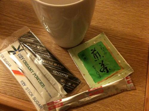 ホテル東京ガーデンパレスの茶請けってかお茶
