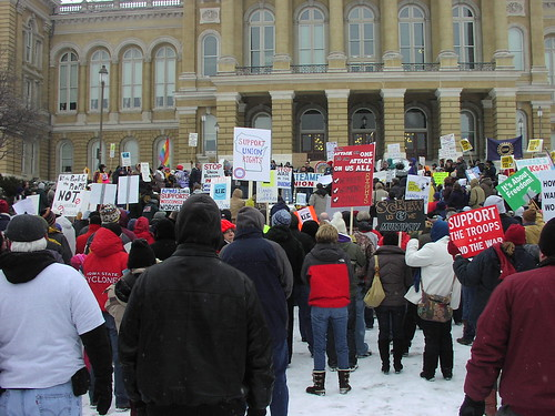 Pictures from today's Des Moines Rally Bruce Boertj