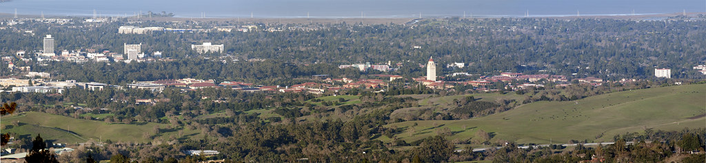 Stanford University from Windy Hill—a pano