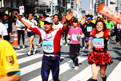 東京マラソン風景
