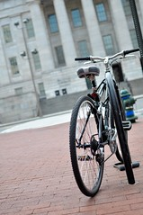 Bike Locked (inetnasshadow) Tags: city morning winter urban dc chintown