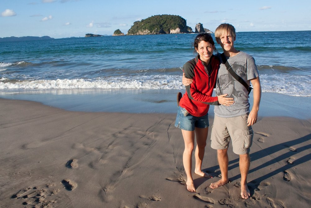 Lori & Drew at Hahei Beach