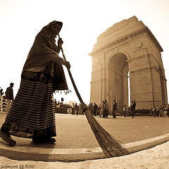 Keep India Clean (Popeyee) Tags: road woman india monument soldier army memorial gate war all delhi indian tomb landmark clean flame national keep independence warmemorial incredible immortal indien unknownsoldier newdelhi amar sweeping jyoti the indiagate jawan allindiawarmemorial amarjawanjyoti popeyee theflameoftheimmortalsoldier popeyeeflickr keepindiaclean armytomb