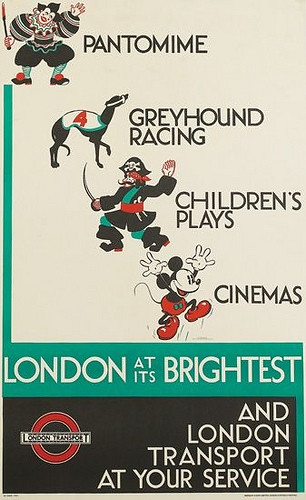 London at its Brightist and London Transport at your service poster