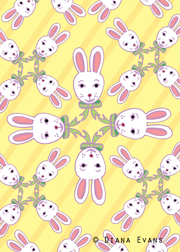 colour 5 x 7 easter bunny fabric2