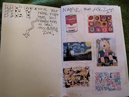 S's Mad Artist Party Zine -Pages 1-2