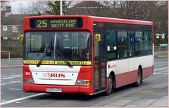 Plymouth Citybus 203 X203CDV 22 February 2011