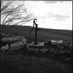The water pump (bildministeriet) Tags: bw 120 film analog mediumformat diy sweden d76 kodaktmax100 hasselblad500cm svartvitt carlzeissplanar2880t