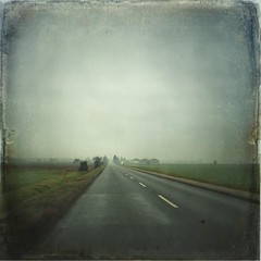 fenland road (And Soon the Darkness) Tags: road sky texture square grey squareformat fields straight fen peterborough helpston glinton magicunicornverybest