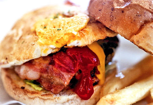 SASA Bacon Cheese Burger with Egg