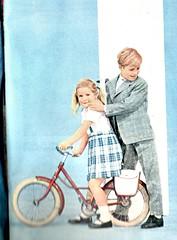 the 1960s-ad for Tergal fabrics (april-mo) Tags: 1961 the60s vintagead the1960s années60 1960sad adfortergal vintagefrenchmagazine vintageadforfabrics pubdesannées60 adfortergalfabrics 1961childrenfashion
