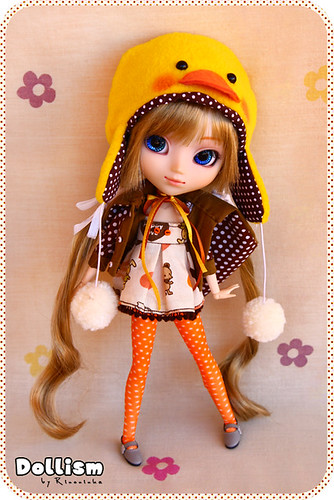 cute hat duck doll gorro handmade chips 25 wig ducky pato kawaii pullip patito ichigo muñeca amano coolcat peluca mymelody obitsu rewigged rechipped dollism