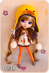 Dollism ~ Brown ducky hat (Rinoninha) Tags: cute hat duck doll gorro handmade chips 25 wig ducky pato kawaii pullip patito ichigo mueca amano coolcat peluca mymelody obitsu rewigged rechipped dollism