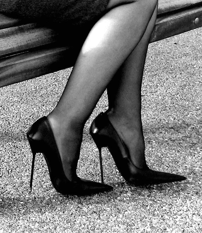 This excellent white black stockings stilettos impossible