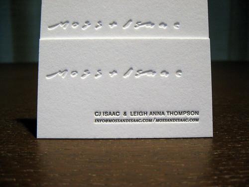 Moss + Isaac Letterpress Cards - Photo #1